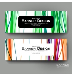 Beautiful banner template with abstract vector