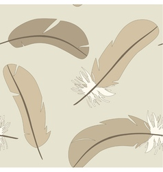 Seamless pattern with isolated feathers vector