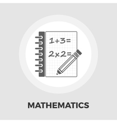 Mathematics icon flat vector