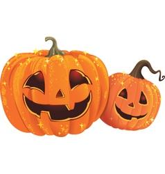 Halloween pumpkins vector
