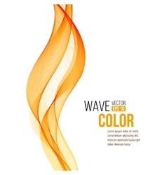 Abstract orange wave design element vector image