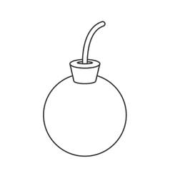 cartoon bomb icon vector image
