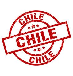 Chile red round grunge stamp vector