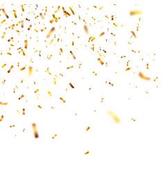 christmas golden confetti falling shiny confetti vector image