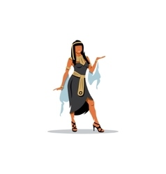 Cleopatra Queen of Egypt sexy girl sign vector image