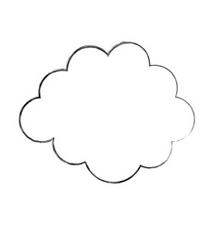 Cloud weather isolated icon vector