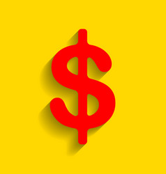 dollars sign usd currency symbol vector image vector image