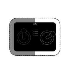 Drone remote control isolated icon vector
