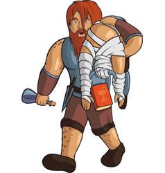 Drunken red-haired healer vector