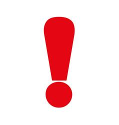 exclamation symbol alert vector image