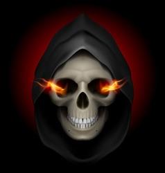 Flaming skull death 02 vector