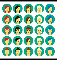 girls with various hair styles vector image