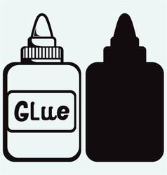 Glue icon set vector image