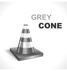 Grey traffic cone vector
