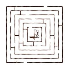hand draw maze vector image