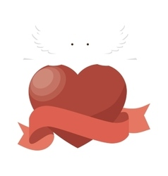 heart love silhouette icon vector image