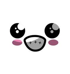 kawaii cartoon face vector image
