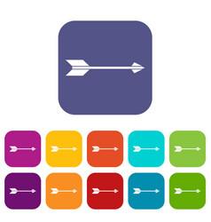 Long arrow icons set vector