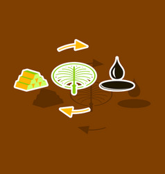 Paper sticker on theme arabic business oil vector