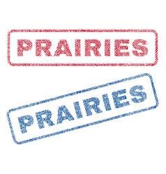 Prairies textile stamps vector