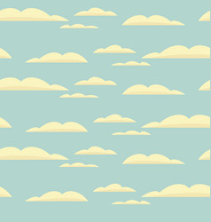 Seamless background with blue sky and clouds vector