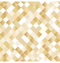 Seamless background with shiny golden squares vector image vector image