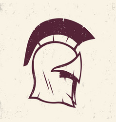 Spartan helmet logo element vector