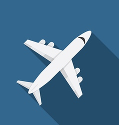 Flat design modern of airplane icon with long vector