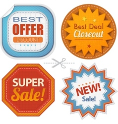 Super sales badges collection vector
