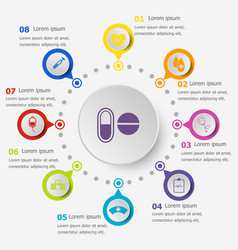 Infographic template with medical icons vector