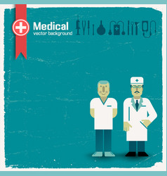 Doctor and health background vector
