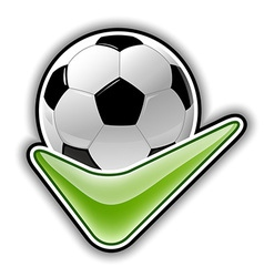 Football all right outline vector