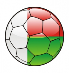 Madagascar flag on soccer ball vector