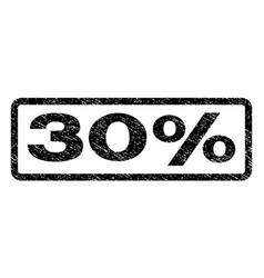 30 percent watermark stamp vector image