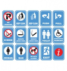 assorted icons vector image
