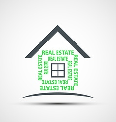 Icon of real estate vector