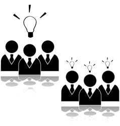 Team idea vector image