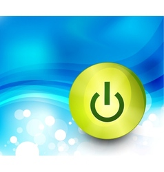 Power button background vector