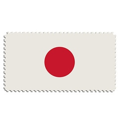 Japanese flag post vector