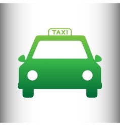 Taxi sign Green gradient icon vector image