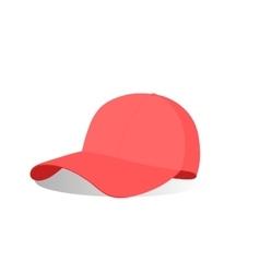 A red baseball cap vector image