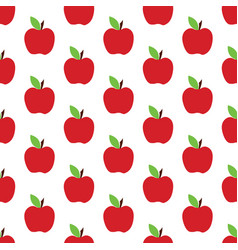 apple pattern on the white background vector image vector image