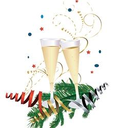 Champagne Celebration Glasses vector image