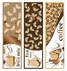 coffee and tea banners vector image vector image