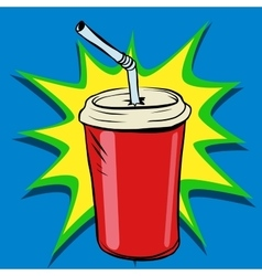 Cola beaker tube fast food drink vector