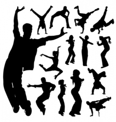 dancing people set vector image