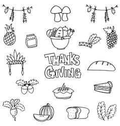 Doodle of thanksgiving element hand draw vector