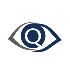 Eye care ceye care solutions letter q vector