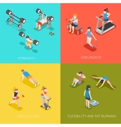 Fitness concept backgrounds vector