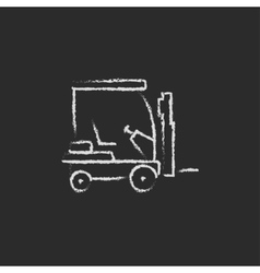 Forklift icon drawn in chalk vector image vector image